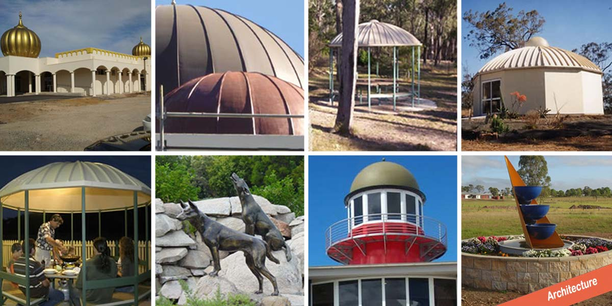 Dome roof and statue design and installation by FGS Composites